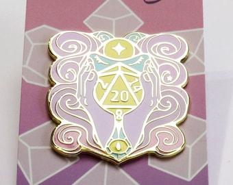 D20 Hard Enamel Pins : Psionic's Sight