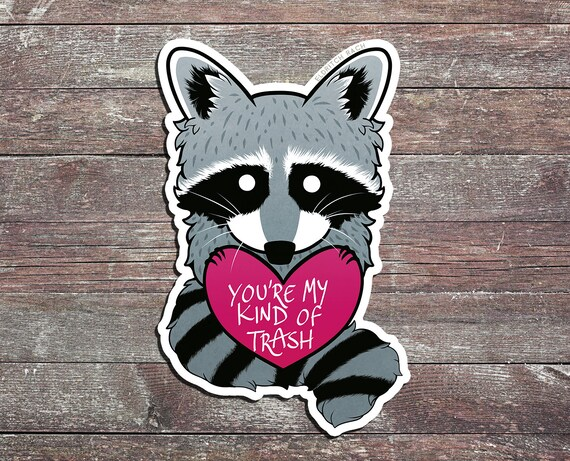 Youre My Kind Of Trash Raccoon Sticker Etsy