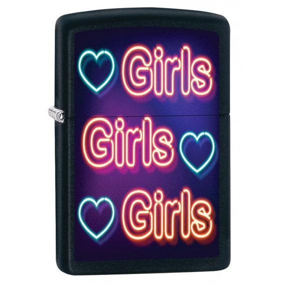 Girls Girls Girls Black Matte Zippo Lighter Etsy