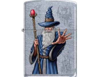 Cool Mystical Wizard Zippo Lighter