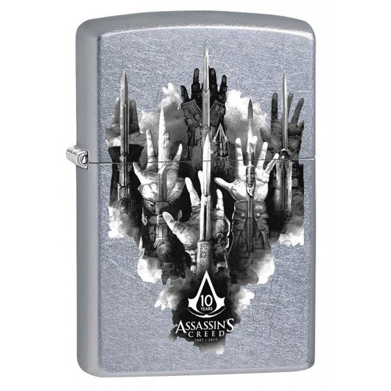 Assassins Creed Gauntlets Street Chrome Zippo Lighter Etsy