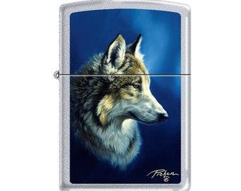 Stunning Pickens Wolf Zippo Lighter