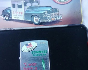 2005 Bradford, PA I was born a lil' Stinker Stinkfest (Leeks) Zippo Lighter 116/150 Made