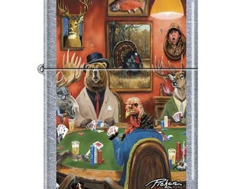 Linda Pickens Big Game Poker Zippo Lighter