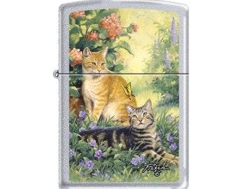 Rare Linda Pickens Purrrfect Kittens Zippo Lighter
