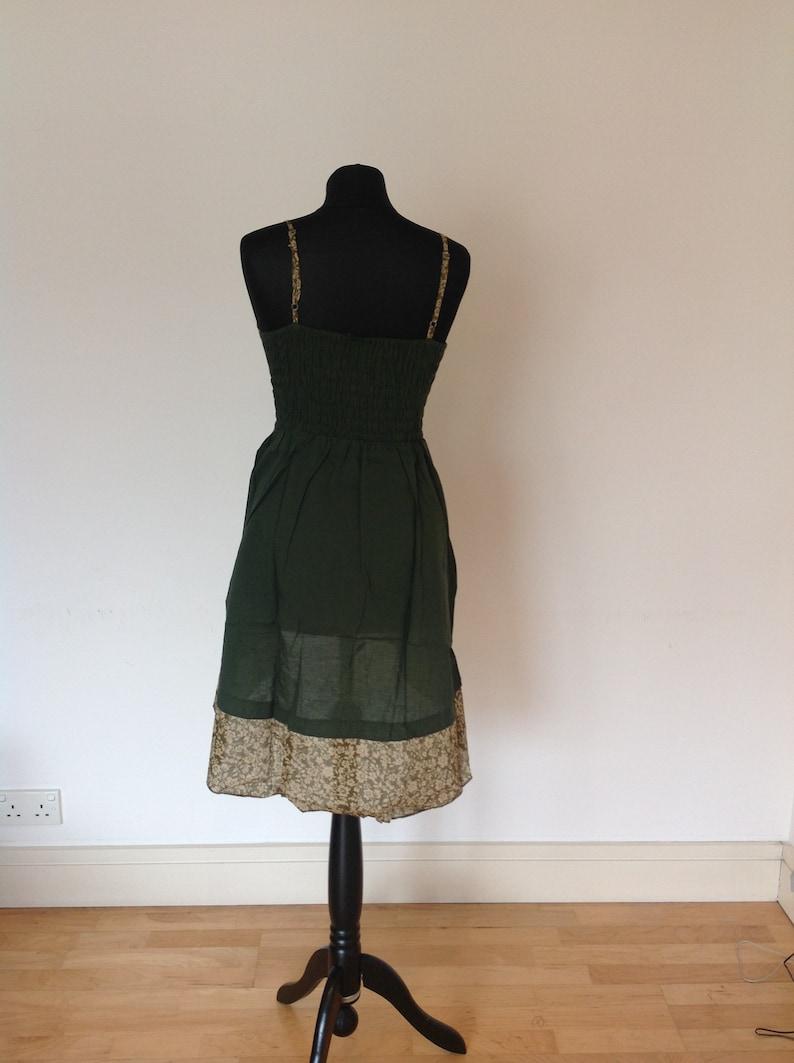 58deaa56516 Short dark green summer dress beach dress festival summer