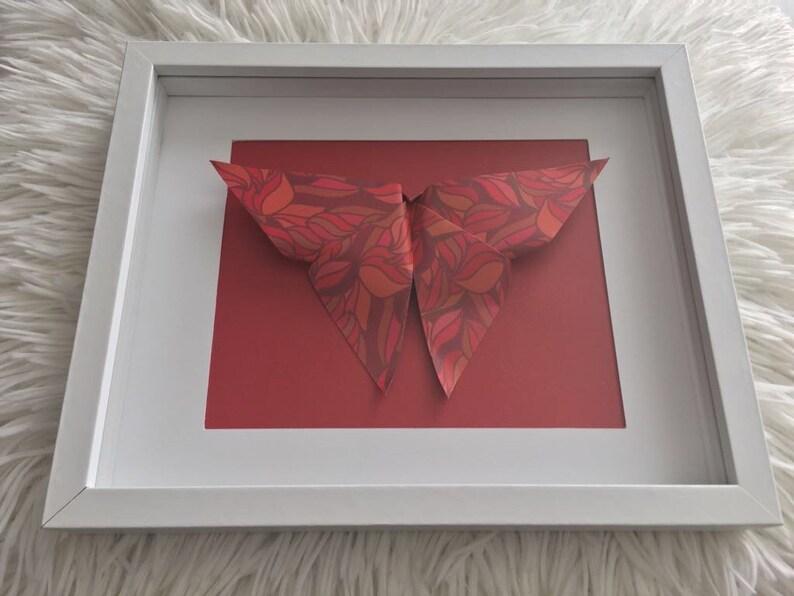 Cadre mural en origami papillon | Etsy