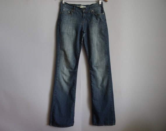 Vintage Blue Denim Jeans / Summer Pants / Cotton P