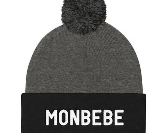 68096f1df72ab3 MONBEBE Pom Pom Knit Cap
