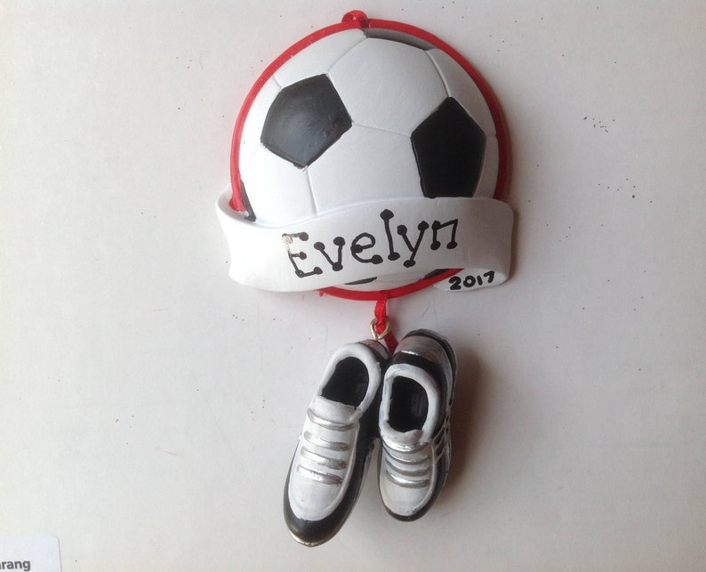 fe0ef7f0e57 Soccer Ball with Soccer Shoes Personalized Christmas Ornament