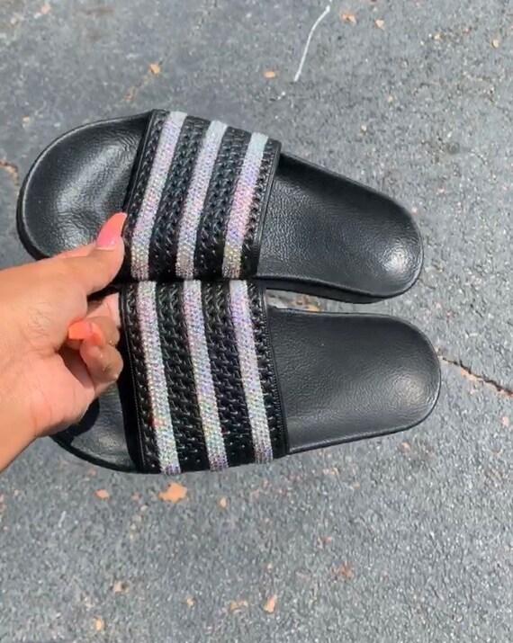 Bling Adidas Slides