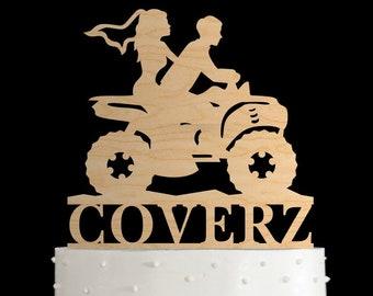 ATV Cake Topper4 Wheeler TopperATV Couple Wedding Weddingunique Topper994