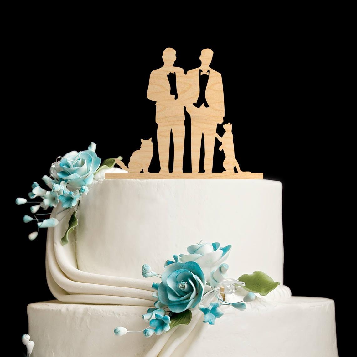 Dark Skin Gay Wedding Cake Topper