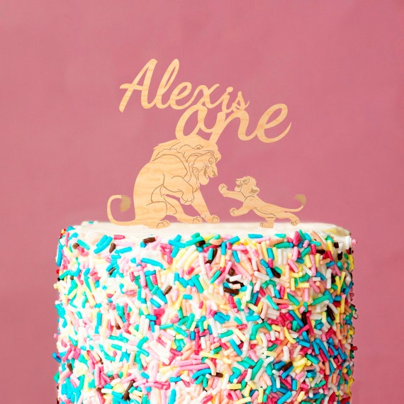 Lion Cake Topperbirthday Cake Toppername Cake Topperlion Etsy