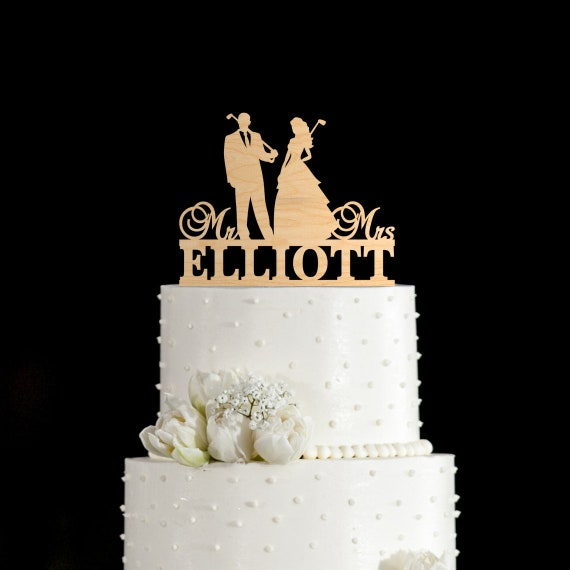 Golf wedding cake toppergolf wedding toppergolf cake | Etsy