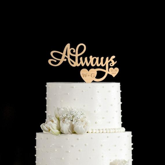 Always Cake Topperalways Wedding Cake Topperharry Potter Etsy