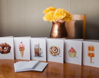Sweet Treats Watercolor cards