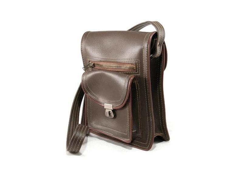 tablet bag mens shoulder bag vintage bag men brown mens crossbody bag Mens messenger bag soviet vintage small messenger bag