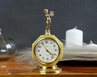 Vintage alarm clock, working clock, mechanical clock, wind up alarm clock, 70s alarm clock, retro alarm clock, old alarm clock
