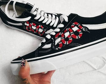 Snake Customized Vans Old Skool Shoes