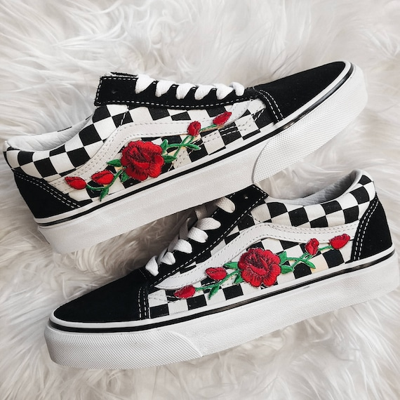 vans embroidered shoes