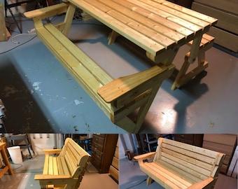 Convertible Picnic Table / Park Bench