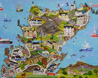 North Coast 500 print A4 size