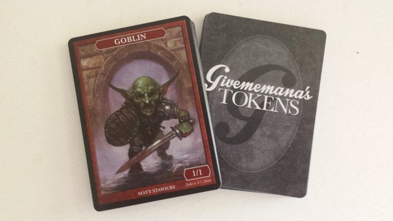 Art by Matt Stawicki  Magic the Gathering Givememana/'s Tokens Limited Edition Goblin Token