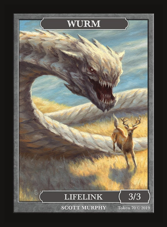 Wolf Token Custom art by Magic Artist Scott Kirschner MTG Magic the Gathering