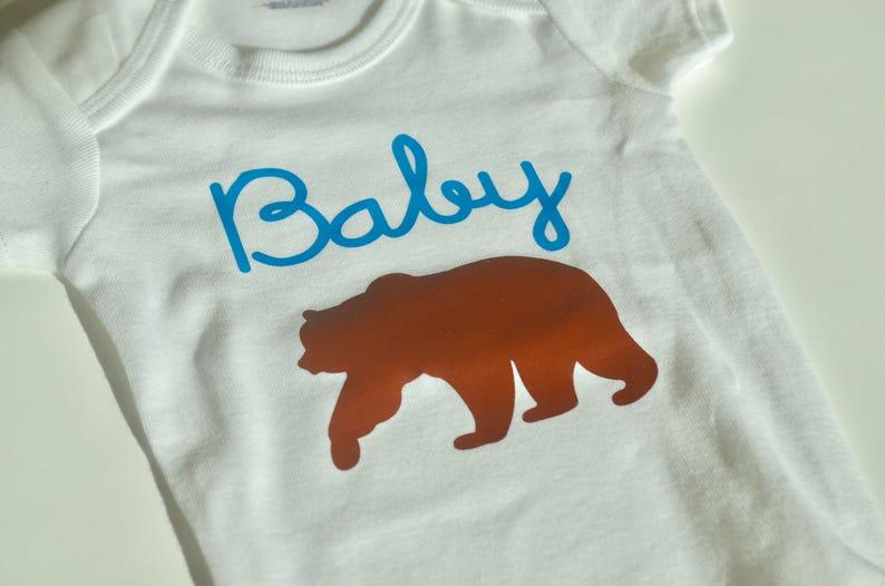 Neutral Baby Shower Gift Bodysuit Baby Boy Baby Bear Onesie Mom to be Gift, Custom Onesie Nature Onesie Forest Girl