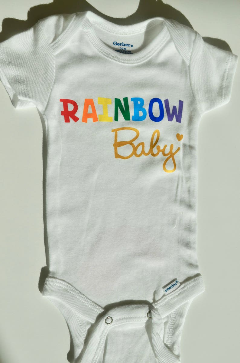 Clothing Baby Girl Bodysuit Rainbow Baby Baby Shower Gift Boy Angel Baby Neutral Jumpsuit Custom Onesie Baby After a Miscarriage