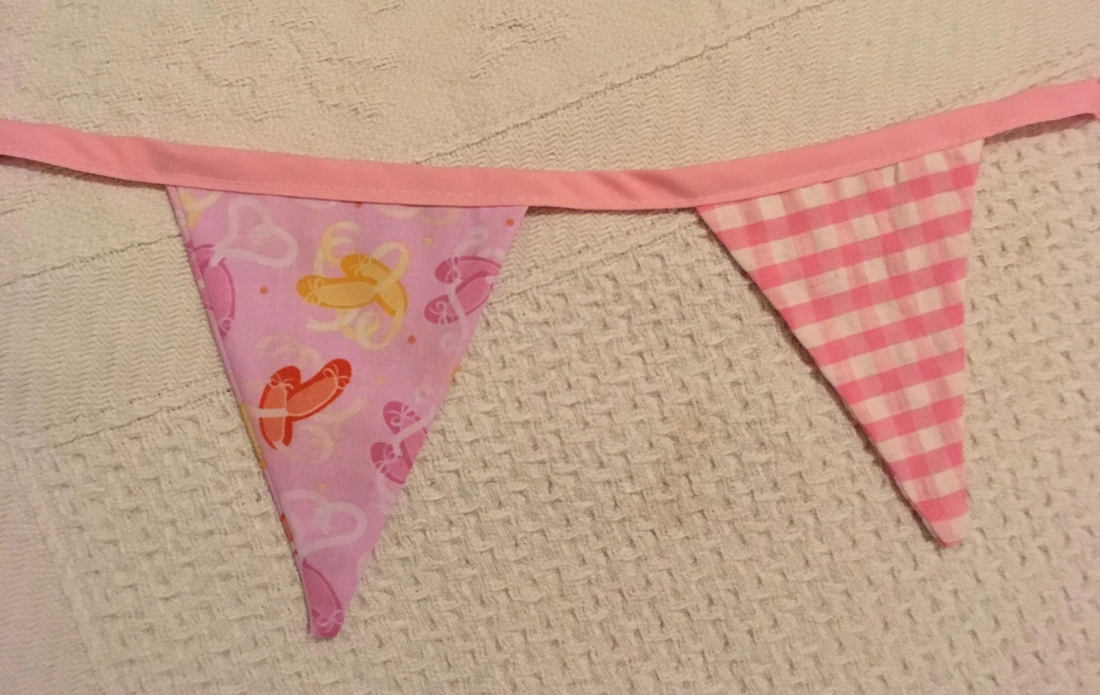 pink bunting, checked, ballet shoes, gingham