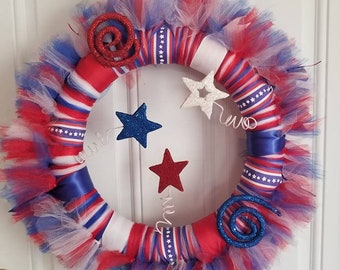 4th of July Wreath, Patriotic Wreath