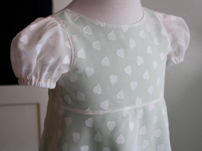 3bd46c685 Baby girl heart dress / heart fabric girl dress / valentines | Etsy