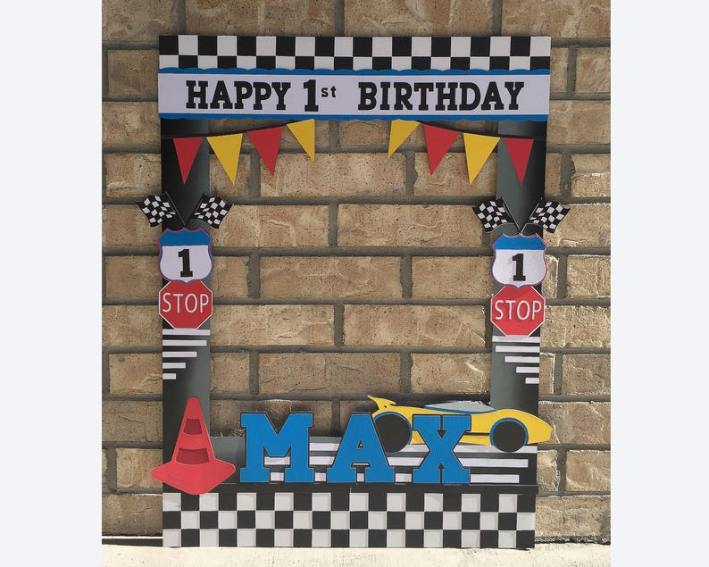 Cars Giant Photo Frame Prop For Photo Booth Race Car Etsy