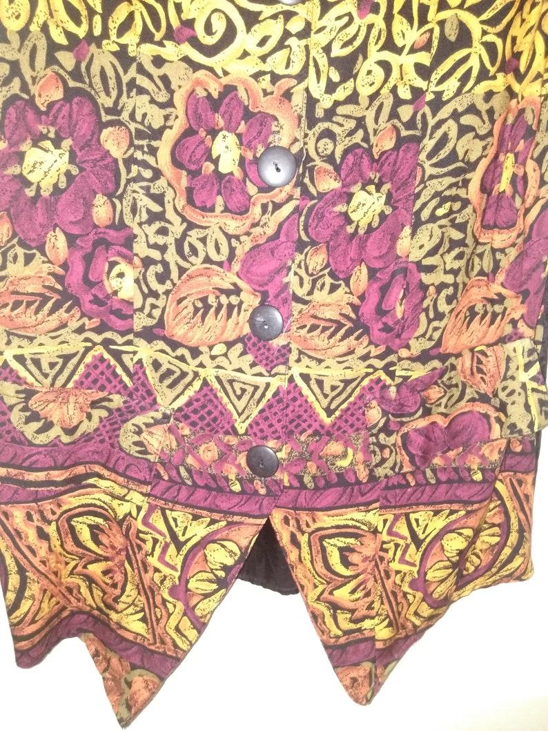 Size Medium Women/'s Vest Park Avenue Floral Summer Vest Vintage Clothing