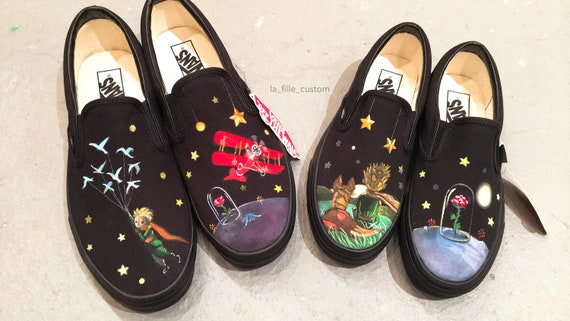 Custom Hand Painted Vans Shoes Movie