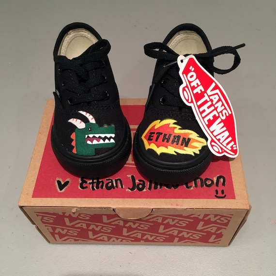 BabyToddlerKids Personalized Hand Painted Vans Custom Shoes