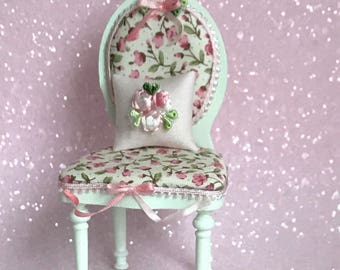 Peppermint and Rosebud chair.