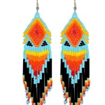 Beaded native rainbow earrings