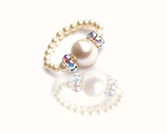 Crystal bead ring