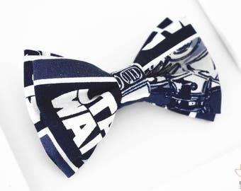Star Wars Bow Tie,  Star Wars Printed Bow Tie, Comic Book Bow Tie, Baby Bow Tie, Boys Photo Prop, Clip On Bow Tie, Superhero Bow Tie