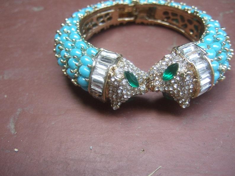 Exquisite Crystal Jeweled Feline Bracelet