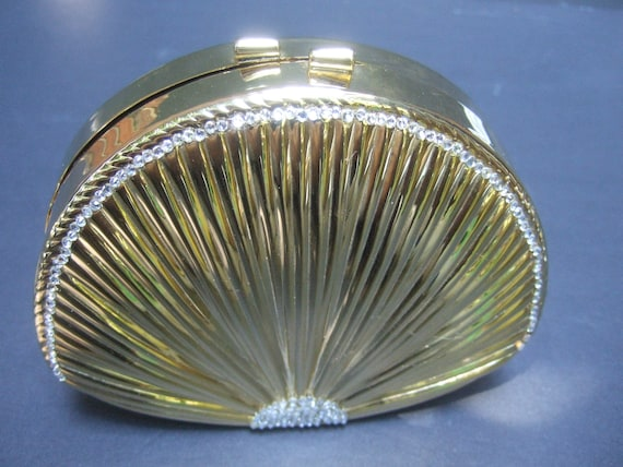 Opulent Gilt Metal Minaudiere Evening Bag c 1980s