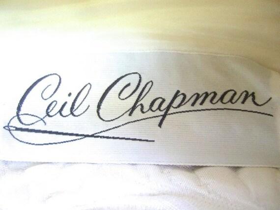 Ceil Chapman Stunning Ivory Brocade Jeweled Empir… - image 5