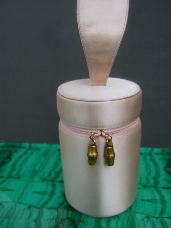 GUCCI Rare Opulent Pale Pink Silk Cylinder Evening