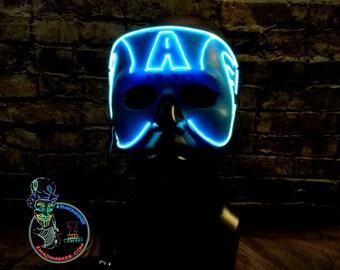 Gift Stil Leuchten Maske w / 3D Zunge 15 ft EL-Wire