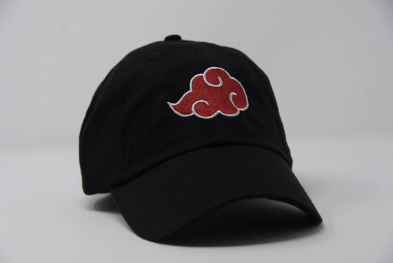 Akatsuki Dad Hat Red Cloud Naruto Embroidered Design Anime