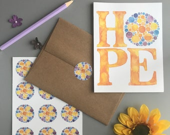 Hope Flower Note Card Set