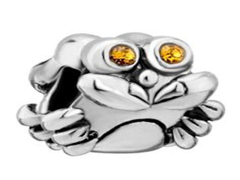Pugster November Birthstone Crab Charm Fit All Brands Bracelets